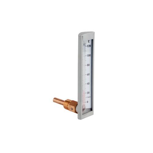Termómetro de capilla de 50 mm. conexión angular