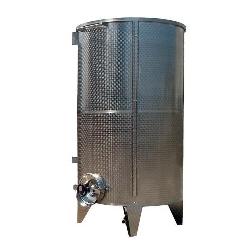 Depósito inoxidable fondo cónico y tapa siempre lleno - a partir de 2.500 litros