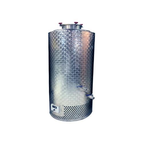 Depósito inoxidable isotérmico con puerta superior y equipo de refrigeración