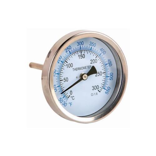 Termómetro de Ø 63 mm. con vaina de latón (inferior)
