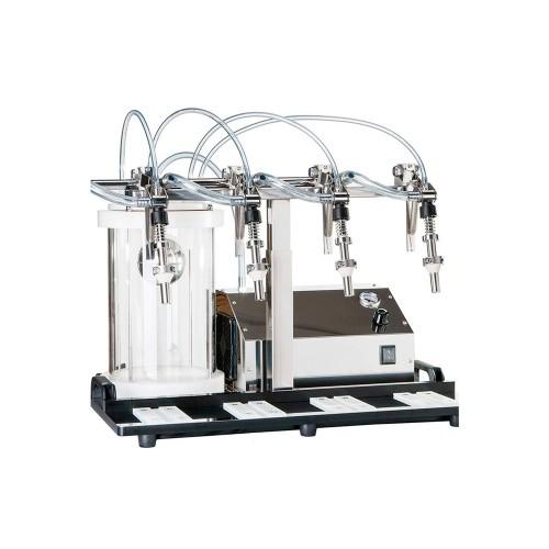 Llenadora semiautomática de 4 caños