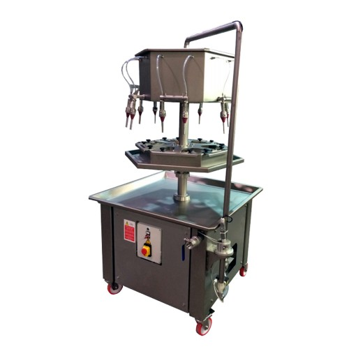Llenadora semiautomática rotativa