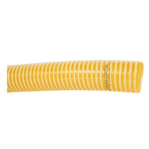 Manguera reforzada con espiral de PVC rígido.