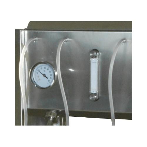 Llenadora lineal para líquidos calientes